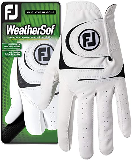 footjoy weather sof golf glove - one of the best golf gloves for sweaty hands